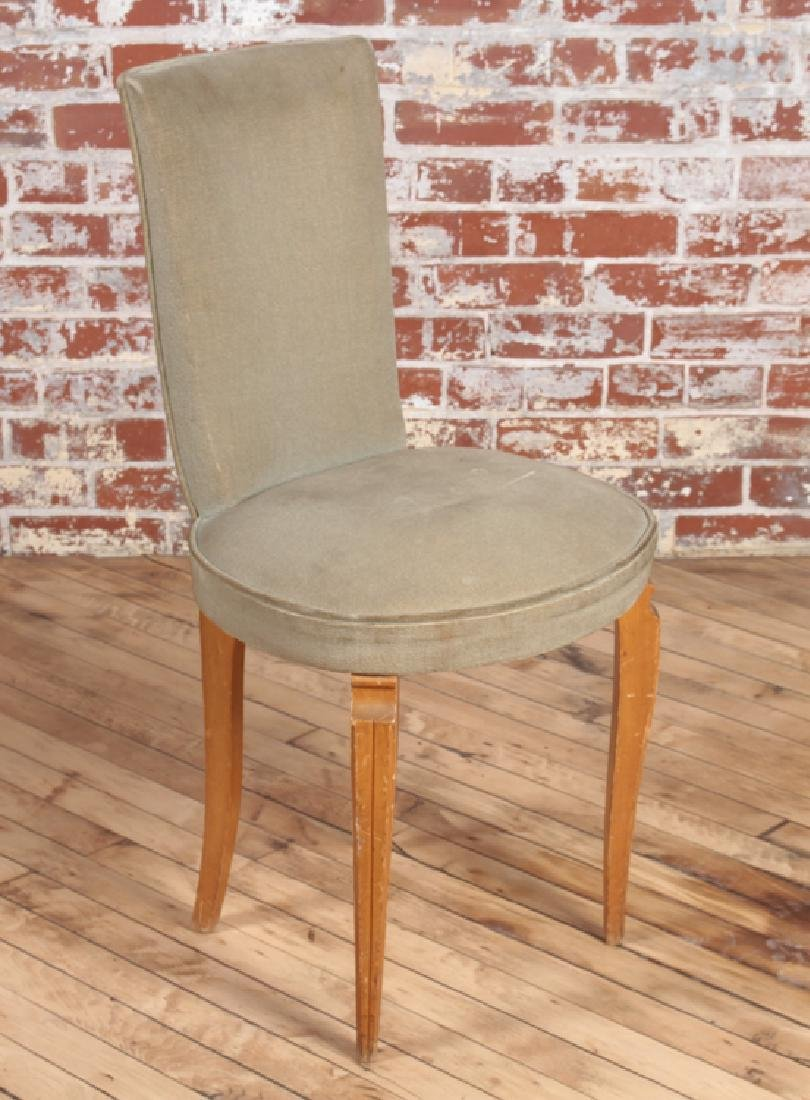 PETITE PAIR FRENCH UPHOLSTERED SIDE CHAIRS C.1950 - 2
