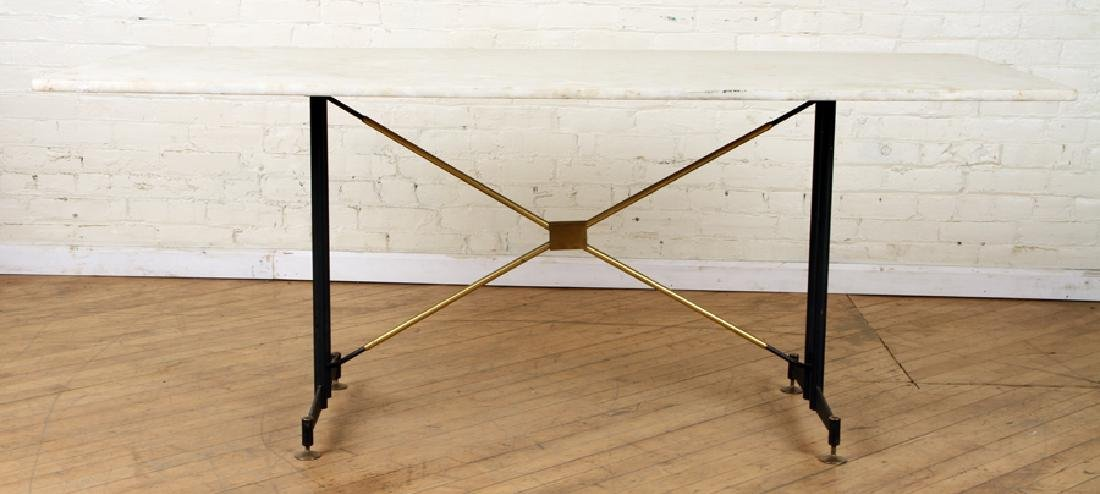 ITALIAN BRONZE AND IRON MARBLE TOP TABLE C.1950 - 2