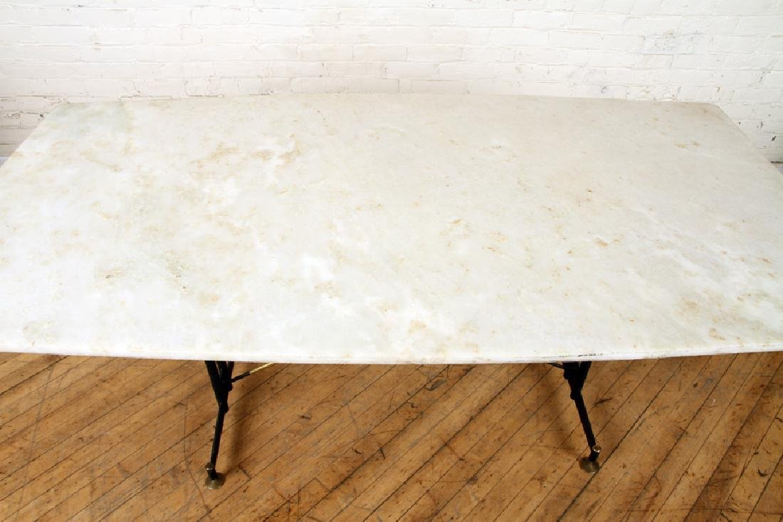 ITALIAN BRONZE AND IRON MARBLE TOP TABLE C.1950 - 3