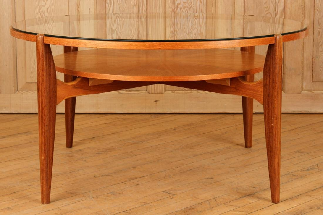 ROSEWOOD ITALIAN OCCASIONAL TABLE GLASS TOP C1950