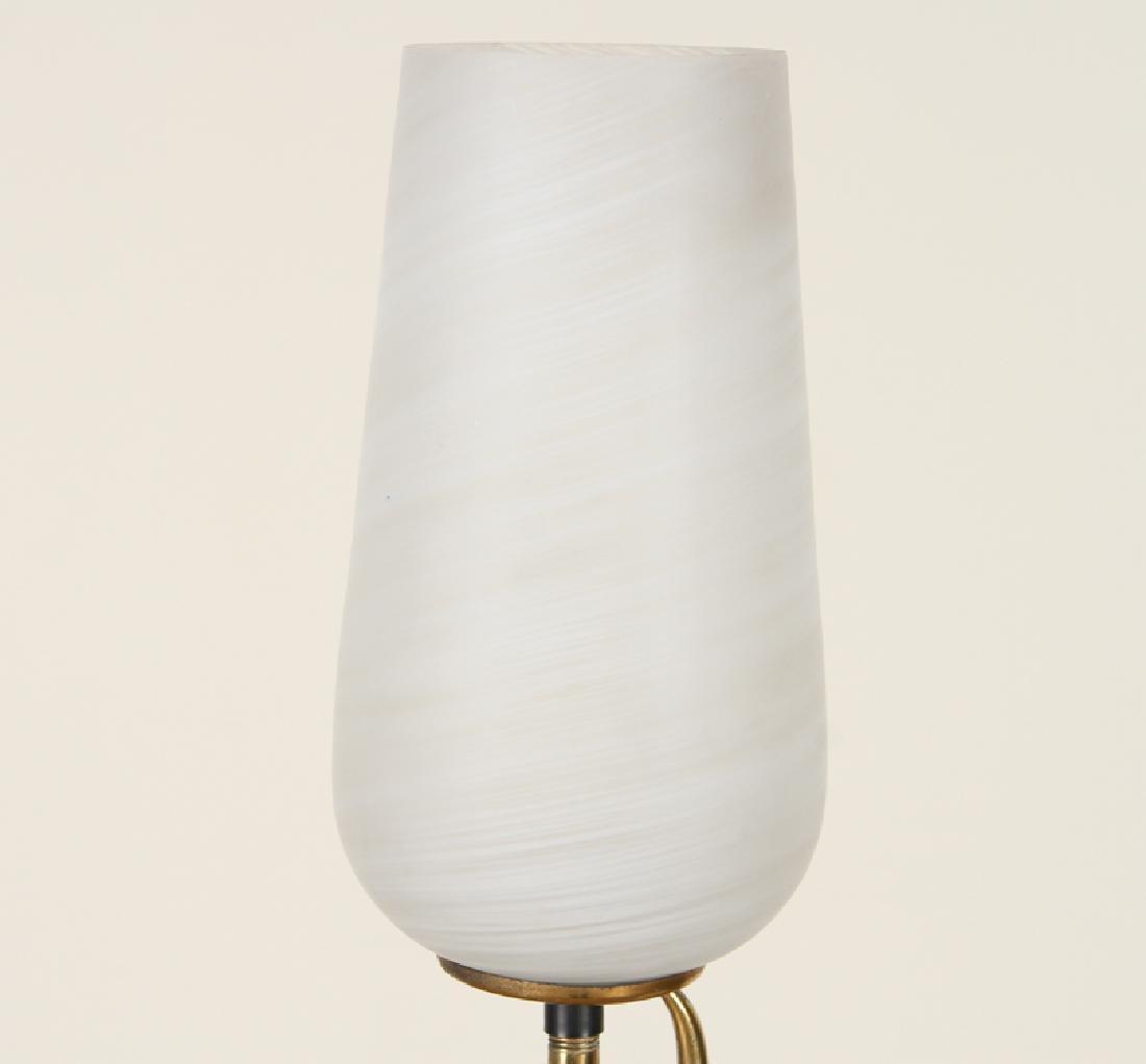 ITALIAN BRASS IRON TULIP FORM FLOOR LAMP C.1960 - 2