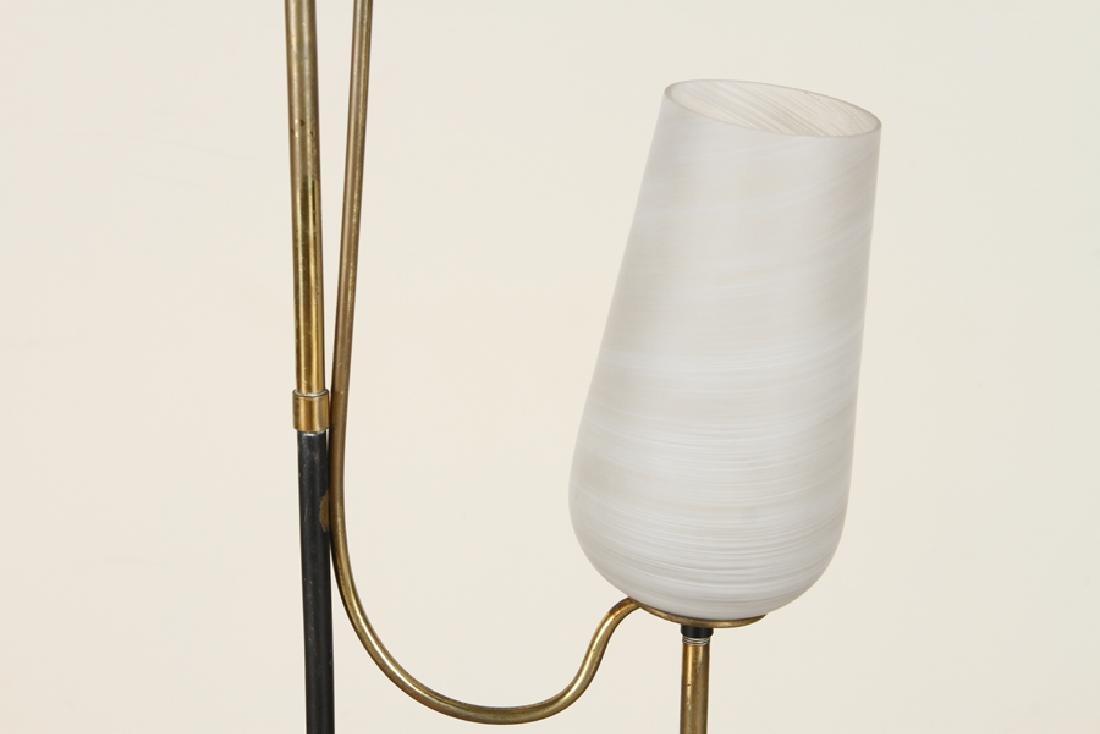 ITALIAN BRASS IRON TULIP FORM FLOOR LAMP C.1960 - 3