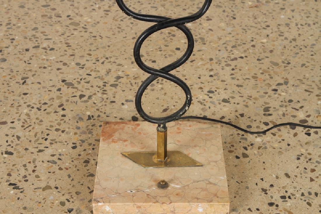 ITALIAN BRASS IRON TULIP FORM FLOOR LAMP C.1960 - 4