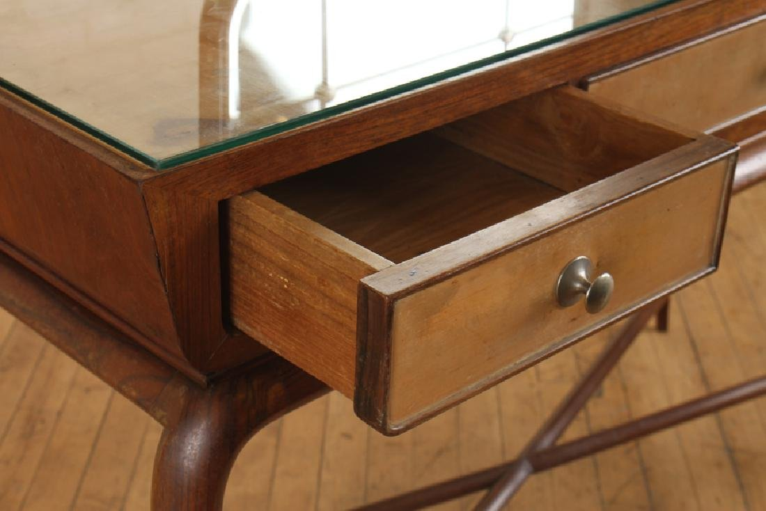 MID CENTURY MODERN ITALIAN 3 DRAWER CONSOLE TABLE - 4