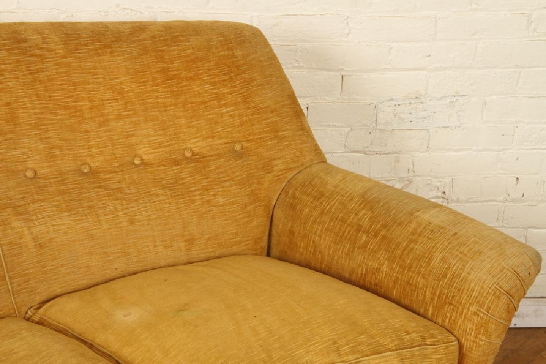 ITALIAN CURVED TUFTED UPHOLSTERED SOFA C.1950 - 3
