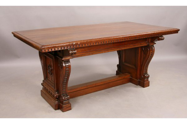 297: Antique Continental Italian library table