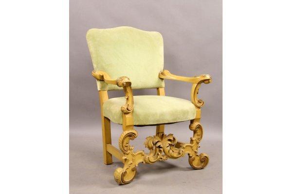 300: Painted Venetian open arm chair