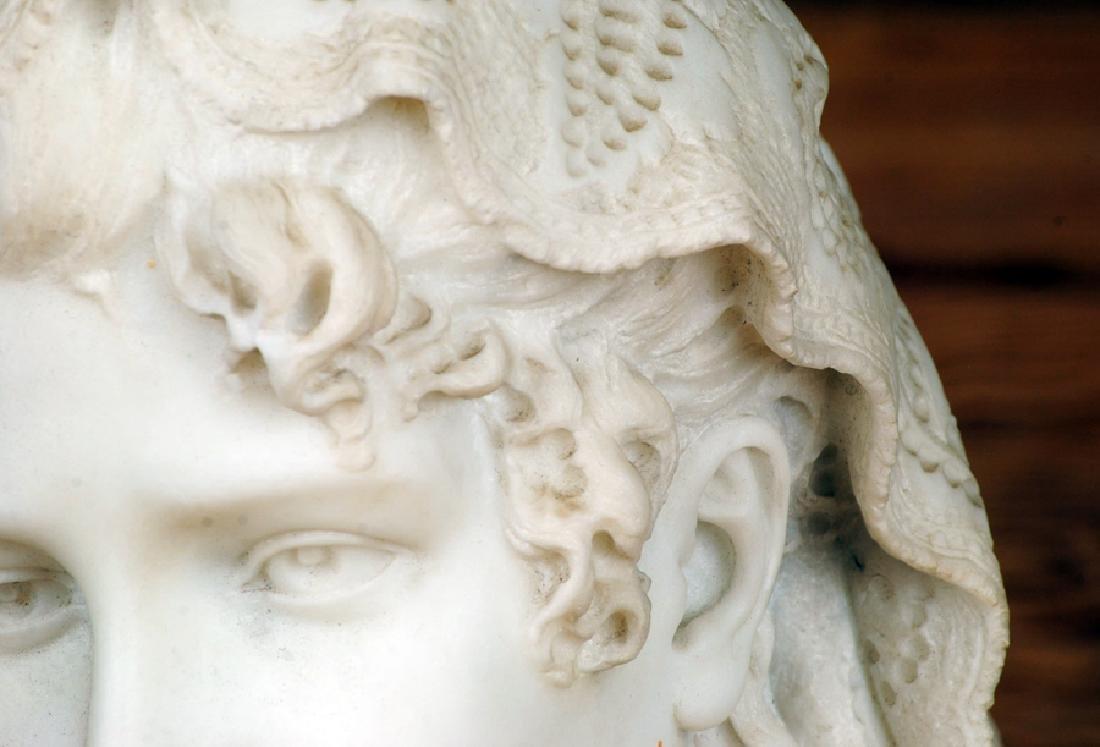 CESARE LAPINI SIGNED ALABASTER SCULPTURE OF WOMAN - 2