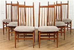 SIX DANISH STYLE SPINDLE BACK CHAIRS CIRCA 1950