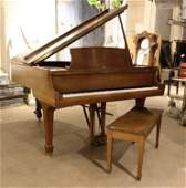 STEINWAY MODEL L GRAND PIANO WALNUT CASE C1990