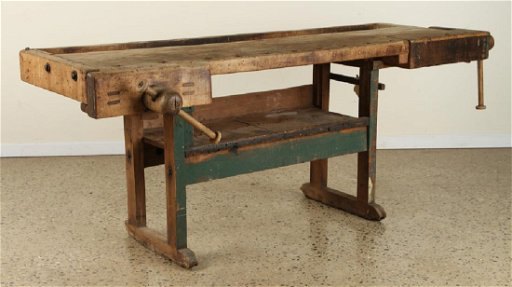 Miraculous Antique Work Bench Vice Hardware 1900 Beatyapartments Chair Design Images Beatyapartmentscom