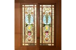 148: Pr American Victorian stained glass windows