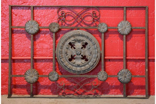 442: Cast iron French balcony panel with cast