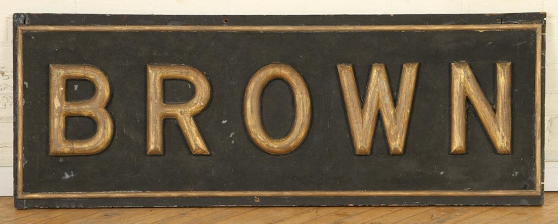 19TH C GILTWOOD ADVERTISING SIGN