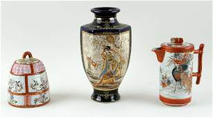 THREE PIECE COLLECTION OF JAPANESE PORCELAIN
