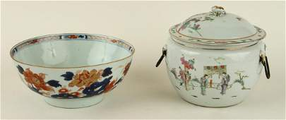 19TH C CHINESE PORCELAIN RICE BOWL  IMARI BOWL
