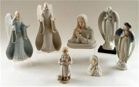7 CYBIS BISQUE PORCELAIN SCULPTURES RELIGIOUS