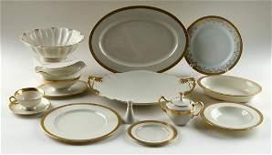 EIGHTY-NINE PIECES LENOX PORCELAIN DINNER SERVICE