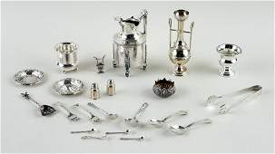 22 PIECES STERLING & SILVERPLATE ARTICLES