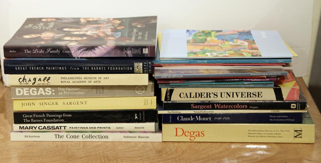 COLLECTION 26 ART BOOKS AND CATALOGS