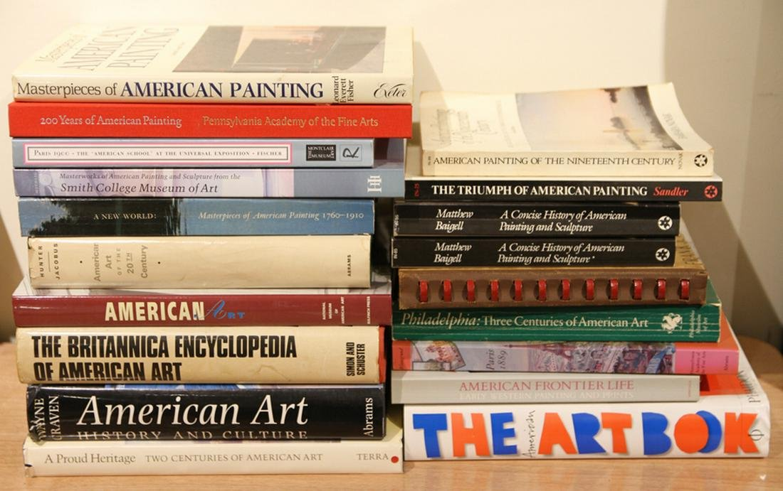 COLLECTION 20 ART BOOKS AMERICAN ART