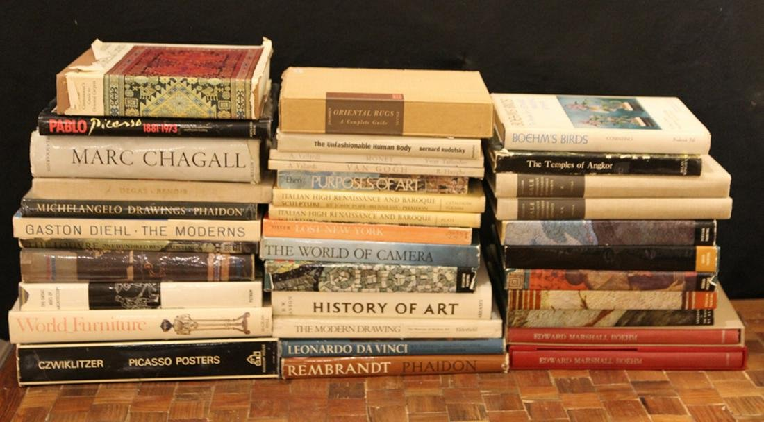 COLLECTION 36 ART BOOKS FINE AND DECORATIVE