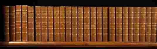 25 VOLUMES SIR WALTER SCOTT THE WAVERLEY NOVELS
