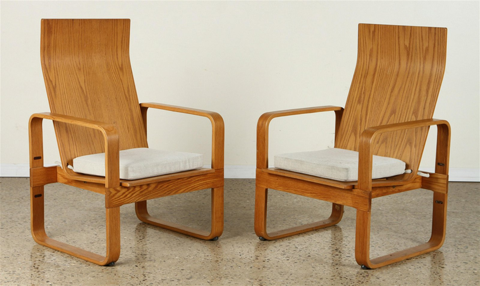 PAIR THONET BENTWOOD ARM CHAIRS 1970