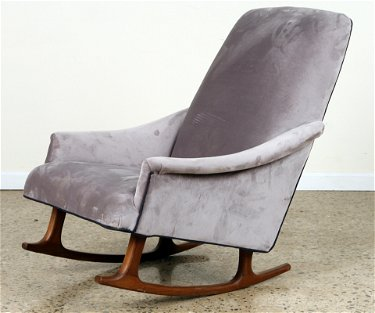 Remarkable Mid Century Modern Upholstered Rocking Chair 1960 Creativecarmelina Interior Chair Design Creativecarmelinacom