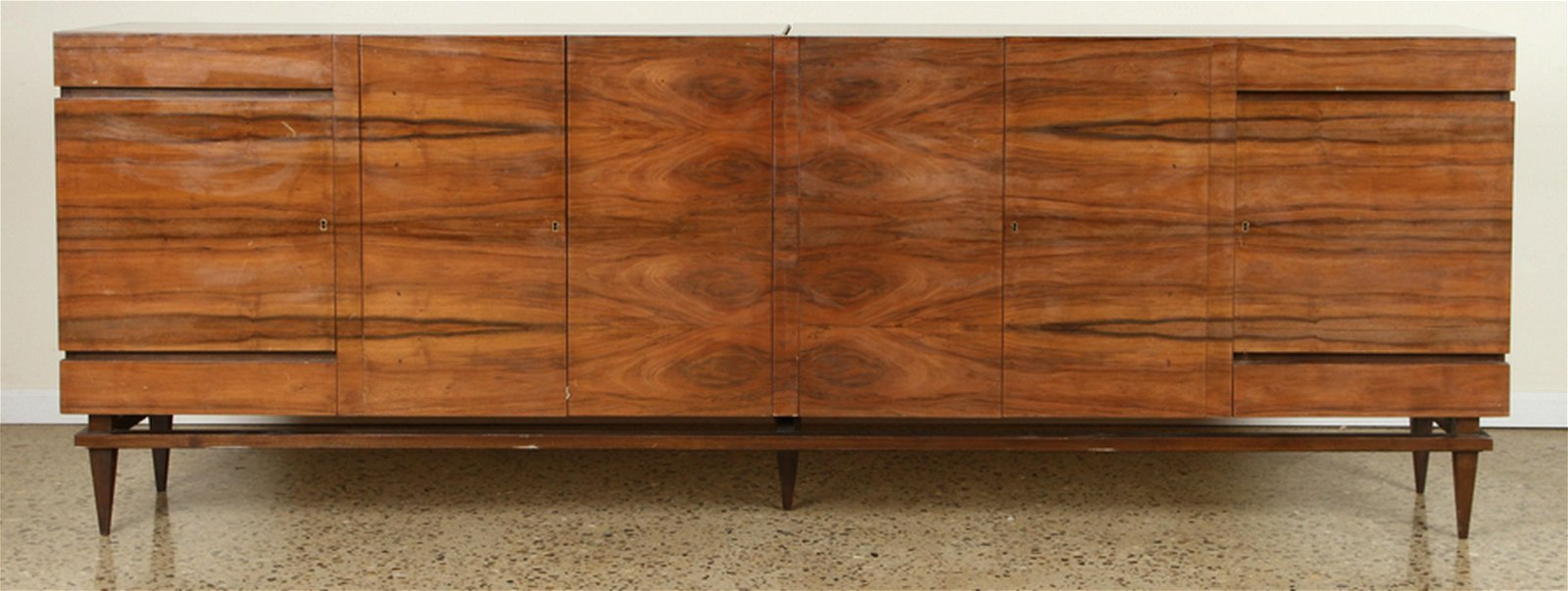WALNUT MID CENTURY MODERN FLOATING SIDEBOARD 1960