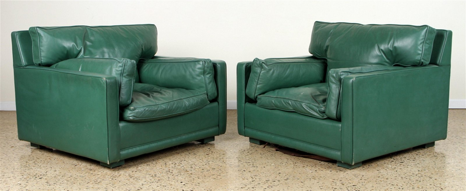 PAIR JACQUES ADNET STYLE LOUNGE CHAIRS C.1950