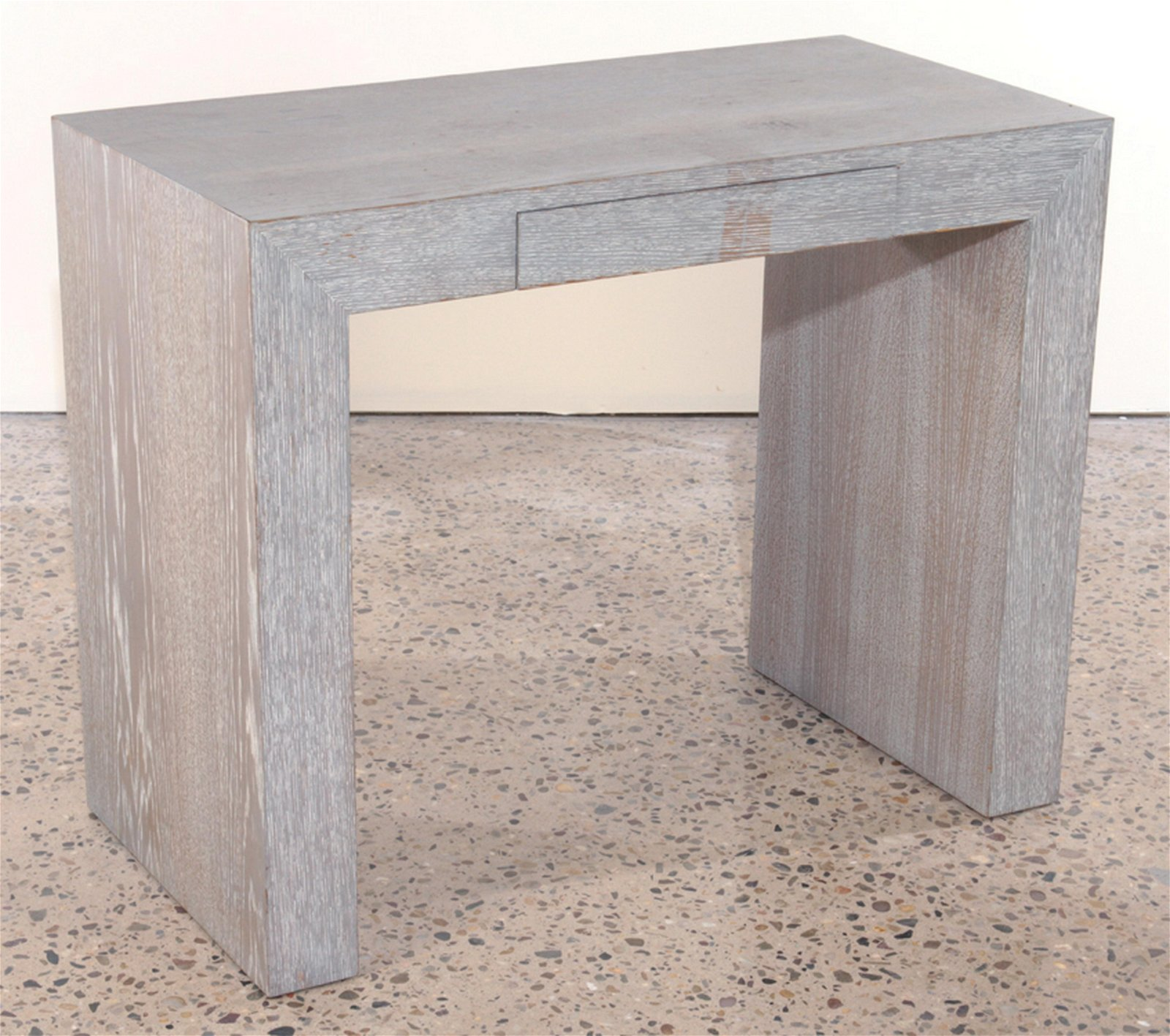 FRENCH SMALL CERUSED OAK CONSOLE TABLE