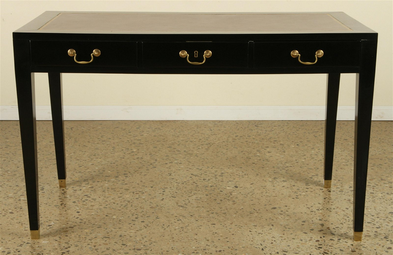 3 DRAWER LEATHER TOP WRITING DESK 1940