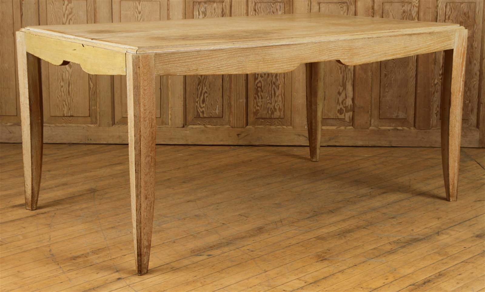 FRENCH CERUSED OAK DINING TABLE CIRCCA 1940