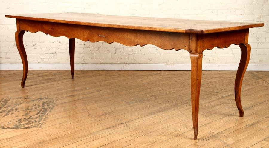 19TH C FRENCH FRUITWOOD FARM TABLE