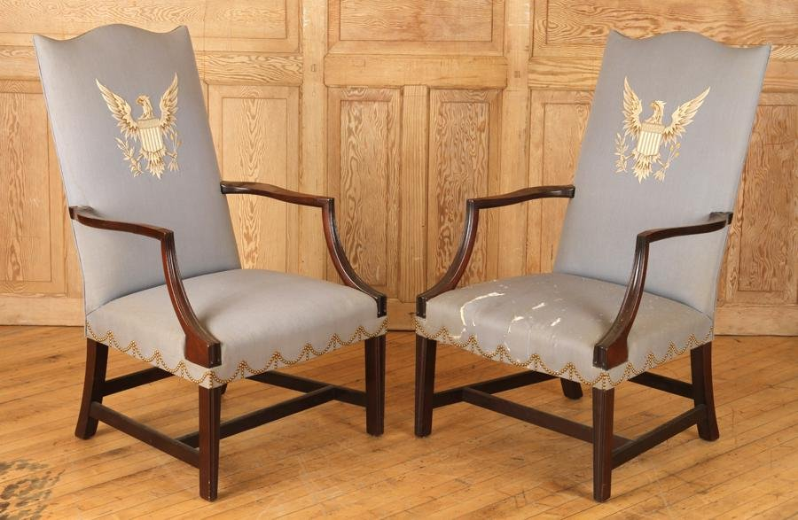 FEDERAL STYLE ARM CHAIRS BY SAYBOLT CLELAND