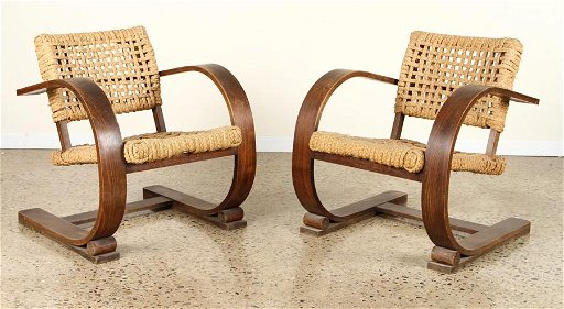 Superb Pair French Rope And Bentwood Arm Chairs C 1940 Gmtry Best Dining Table And Chair Ideas Images Gmtryco