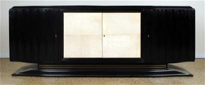 EBONIZED PARCHMENT ART DECO SIDEBOARD CIRCA 1930