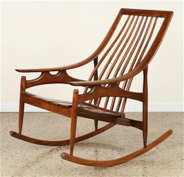 Astounding Mid Century Modern Rocking Chair Spindle Back Alphanode Cool Chair Designs And Ideas Alphanodeonline