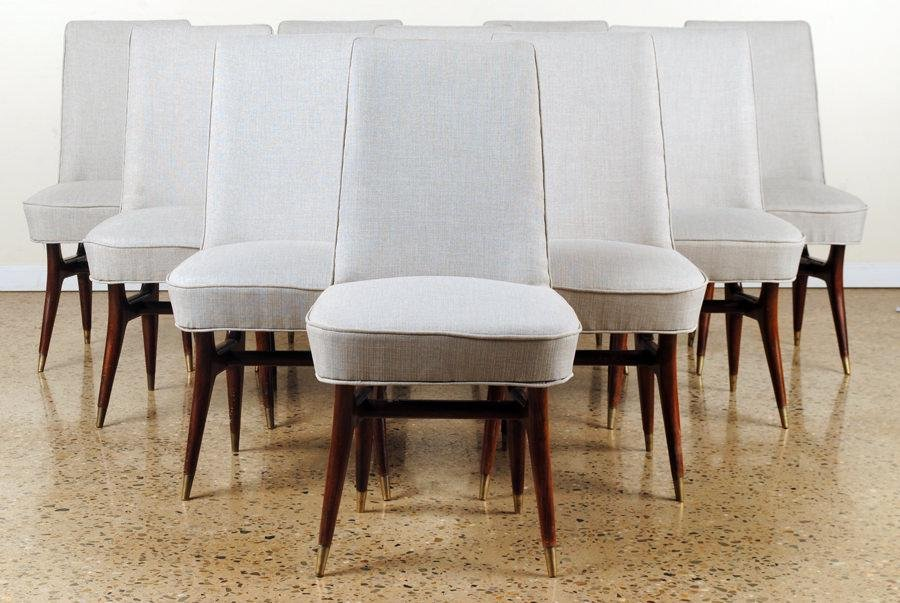SET 10 DINING CHAIRS MANNER OF VLADIMIR KAGAN