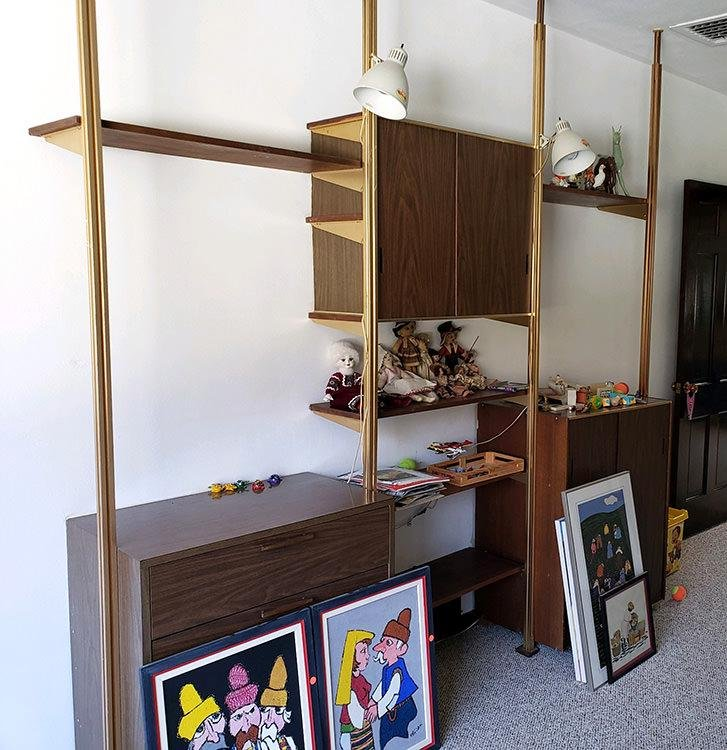 MCM GEORGE NELSON HERMAN MILLER WALL UNIT C. 1970
