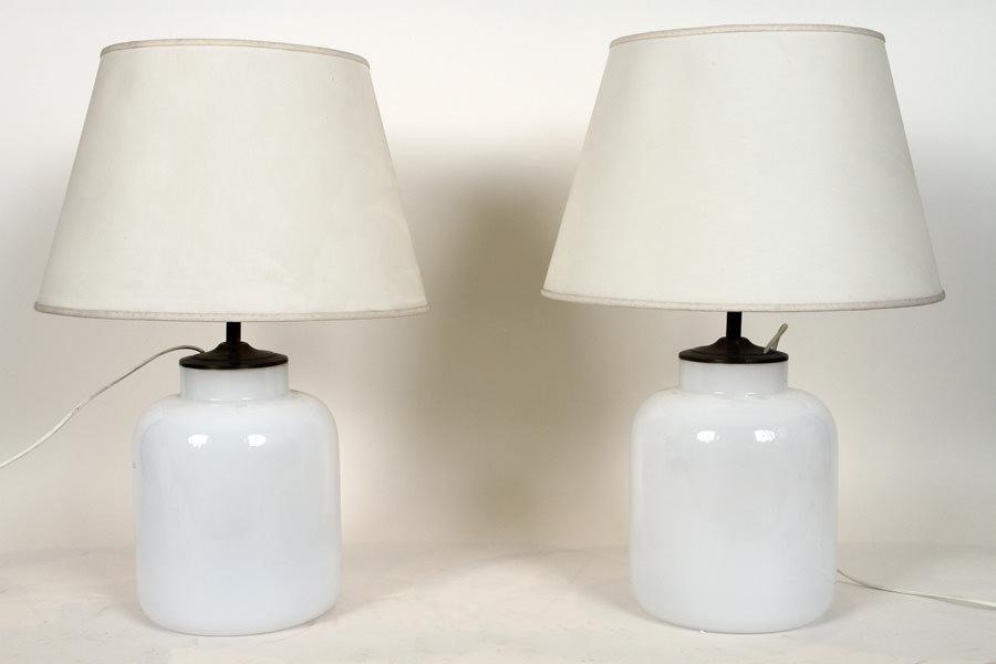 PAIR MID CENTURY MODERN ITALIAN TABLE LAMPS C1960