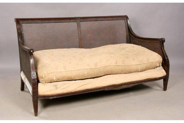 12: mahogany Regency rams head settee sofa