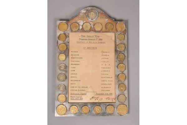 756: Antique silver Versailles presentation frame WWI