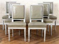 SET 6 DIRECTOIRE STYLE FRENCH DINING CHAIRS C1940