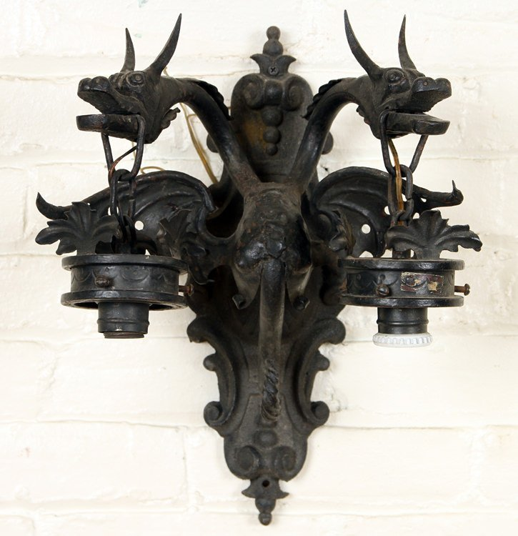 WROUGHT IRON WALL SCONCE MANNER SAMUEL YELLIN