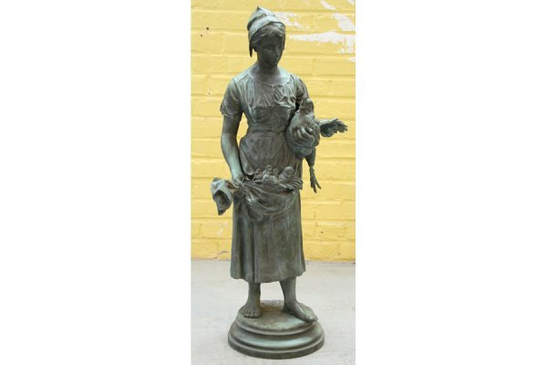 1: Alfred Barye signed bronze antique statue