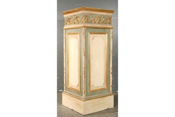 7: Pr painted carved giltwood antique pedestals