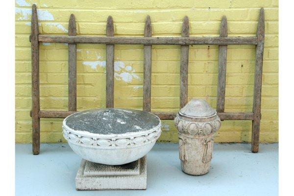18: garden architectural French wood terracotta