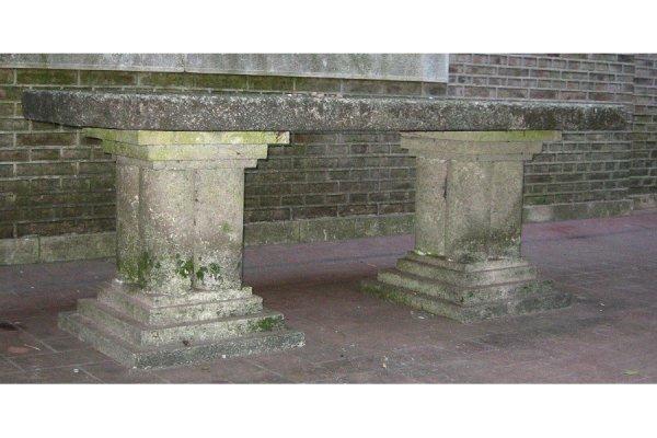19: Large cast stone garden table circa 1920
